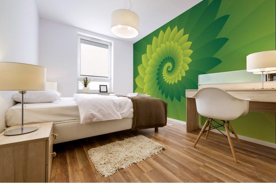 Shiny Greeny Art Mural print