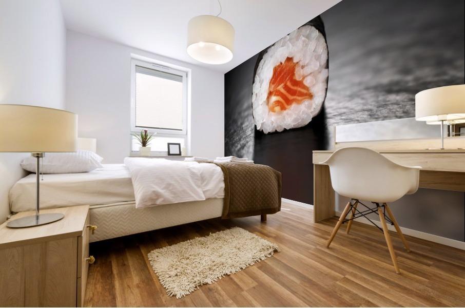Maki Sushi Roll with Salmon Mural print