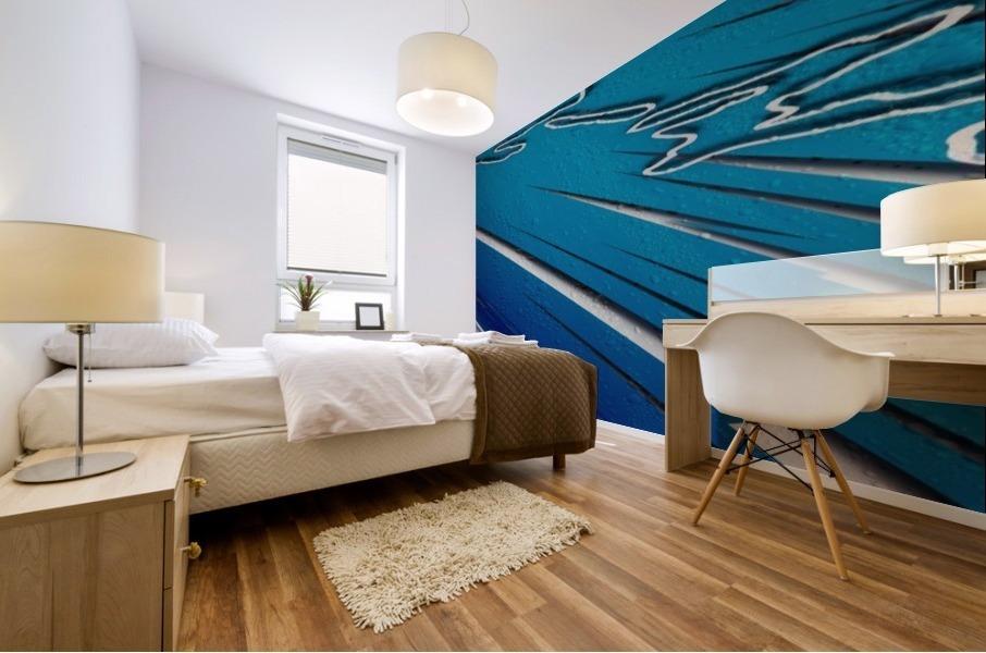 Diagonally Blue Mural print