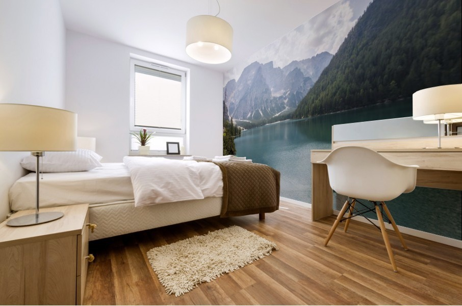 Lake of Braies Mural print