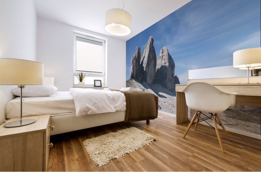 Three peaks of Lavaredo Mural print