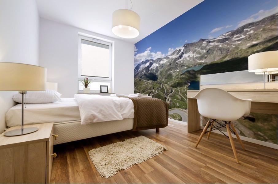 Landscape of Gran Paradiso Mural print