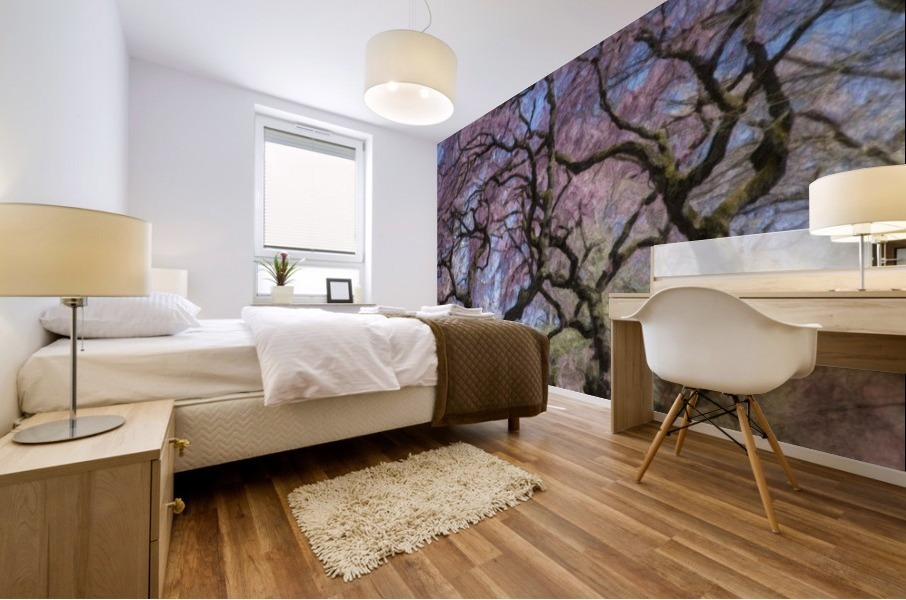 Abstract Cherry Blossom tree Mural print