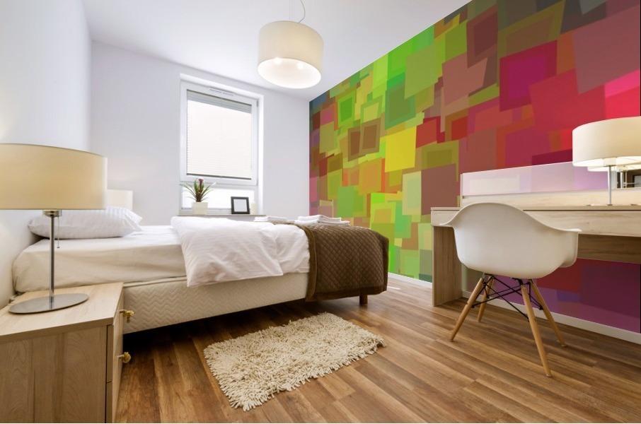 Vivid Squares Mural print