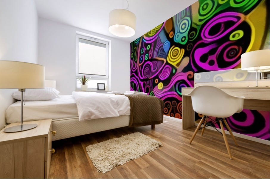 Colorful Abstract Ornament Mural print