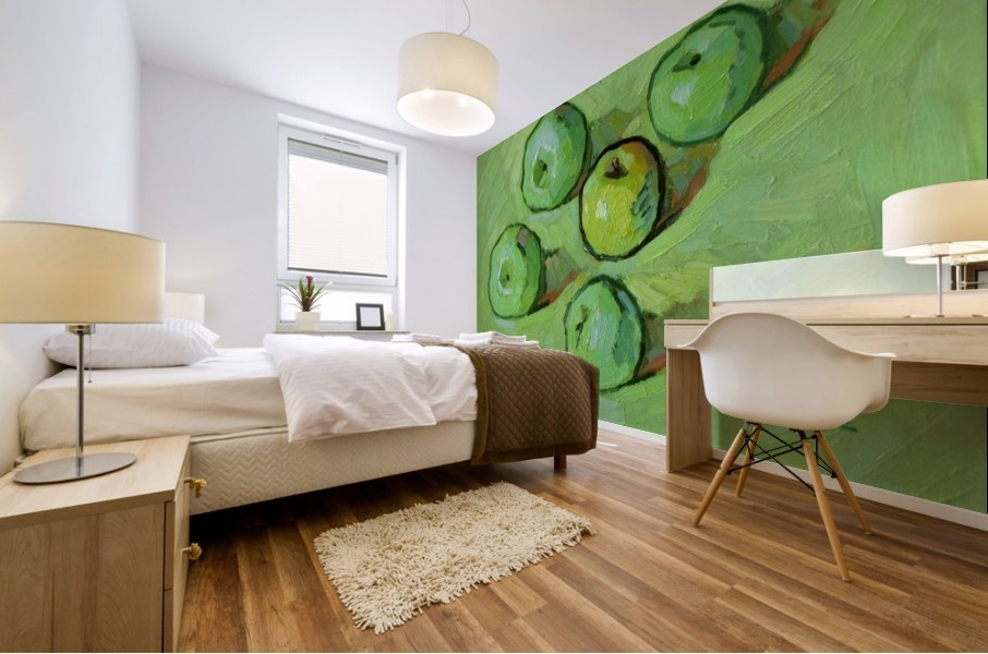 Green Apples Mural print