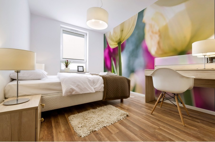 Under The Tulips - Sous Les Tulipes Mural print