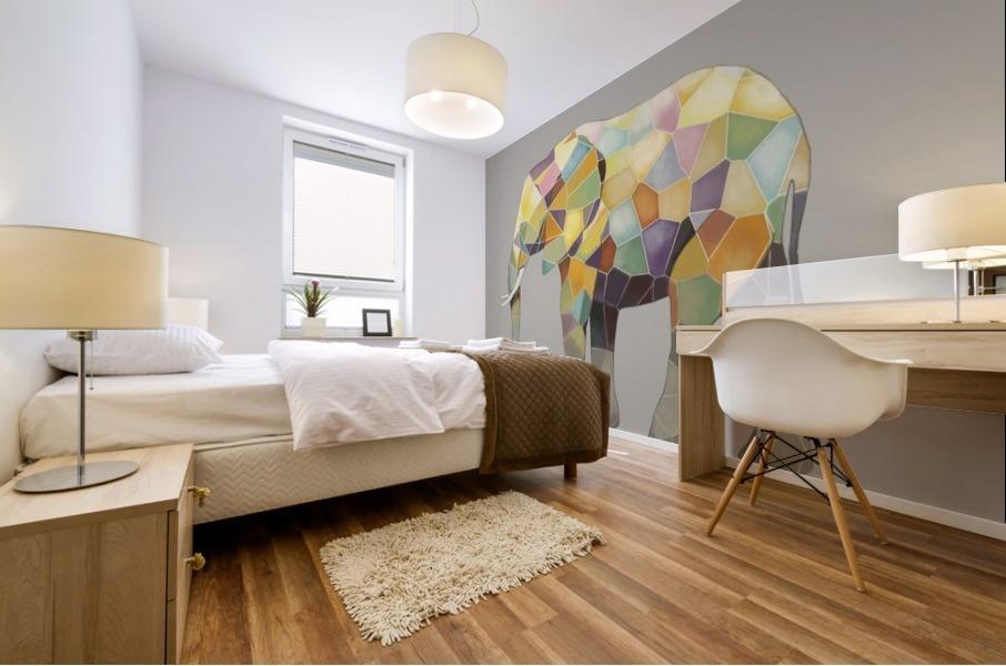 Elephant Mosaic Mural print