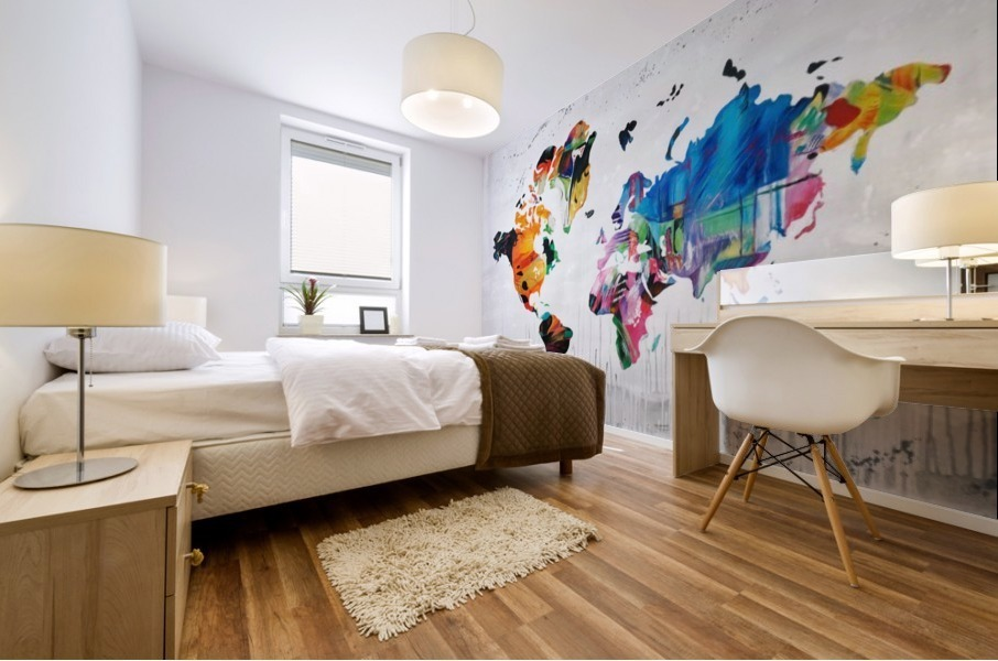 Monde Mural print