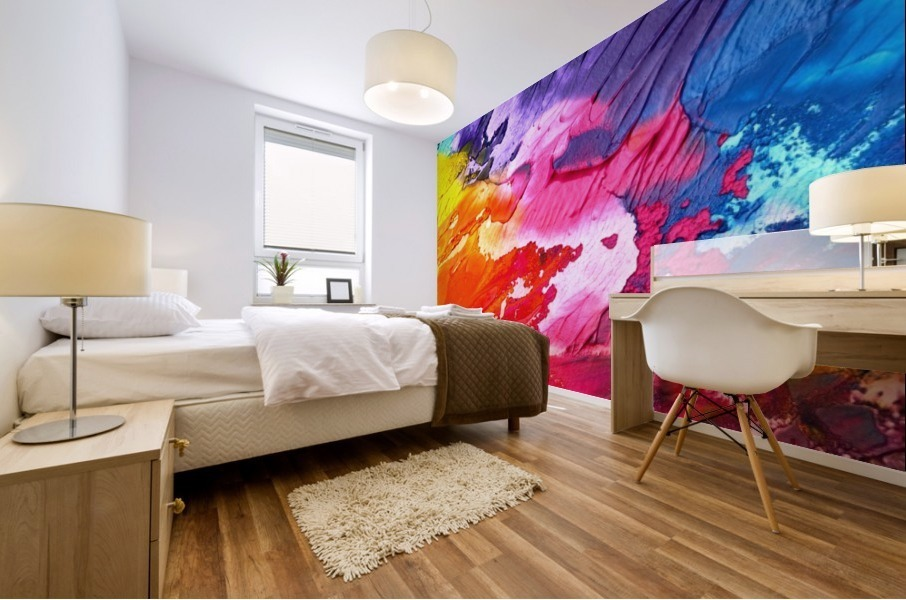 Waves Of Colors Mural print