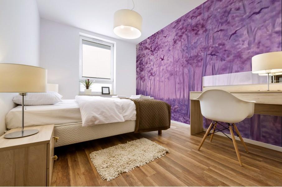Purple Woods Mural print