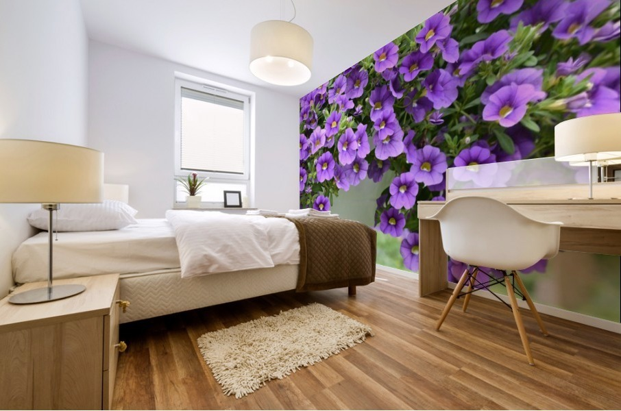 Beautiful Purple Flowers Photograph Mural print