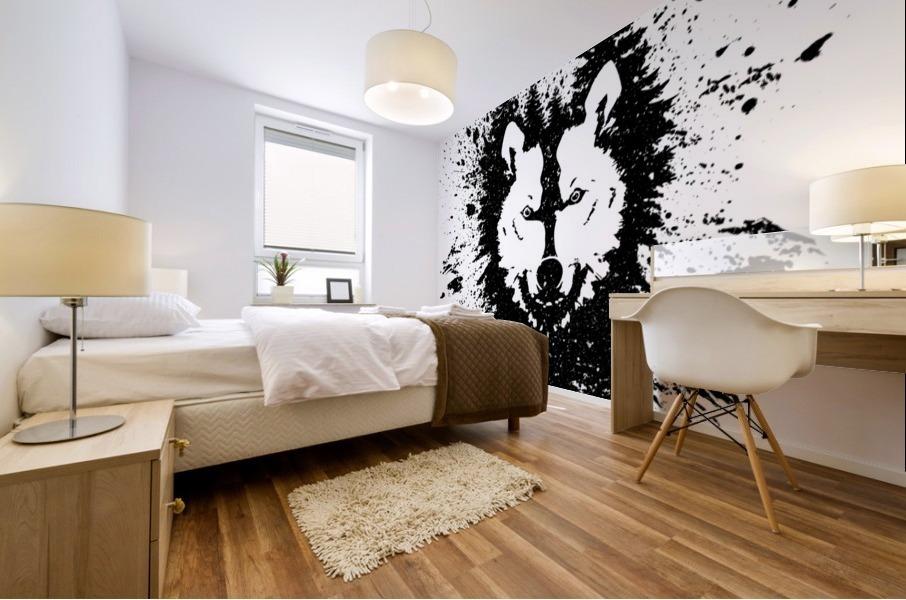 Absract Wolf Mural print