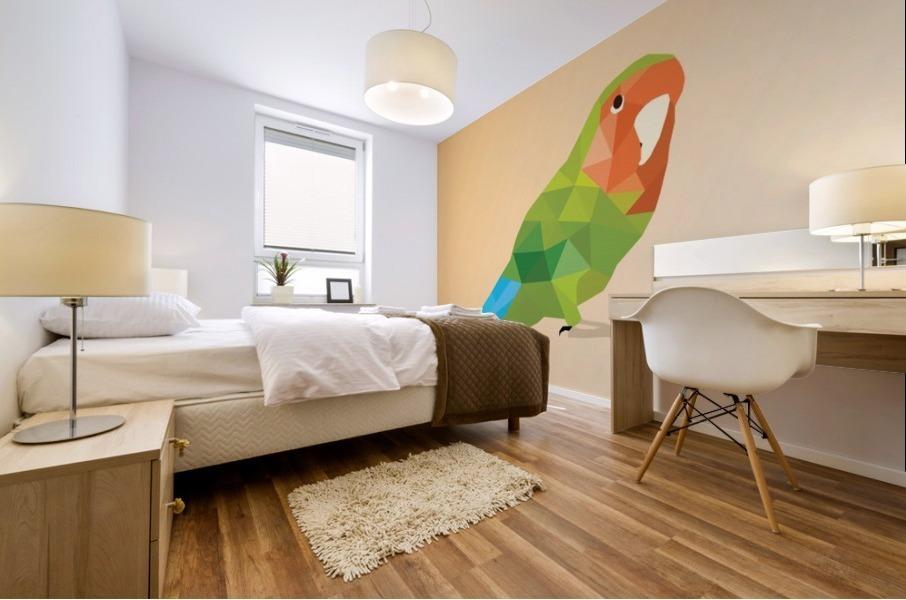 Parrot LOW POLY ART  Mural print