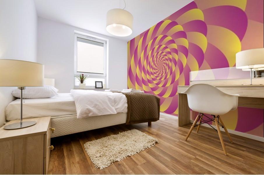 Lollipop Swirl Art Mural print