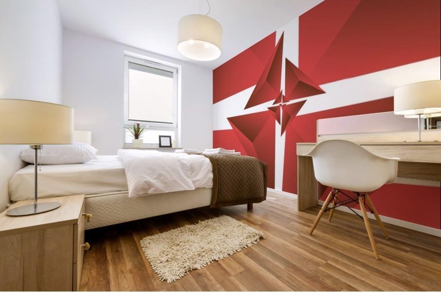 Trendy Polygen Art Mural print