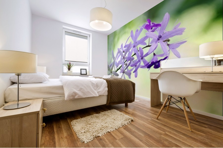 Purple orchid Mural print