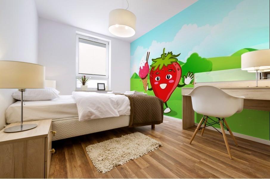 Strawberry Ice Cream_OSG Mural print