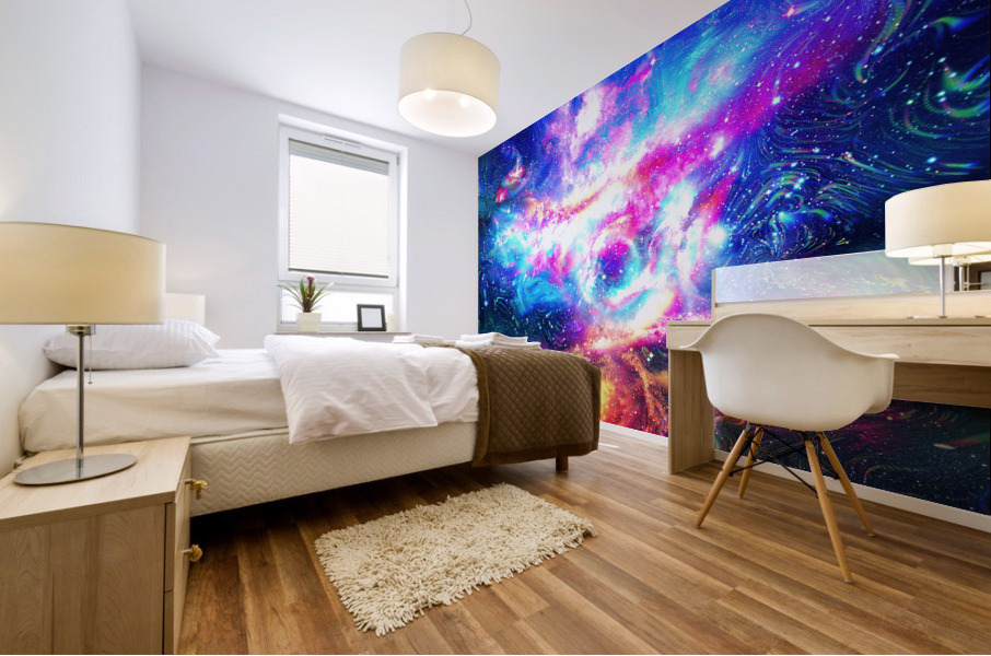 Colorful Galaxy  Mural print