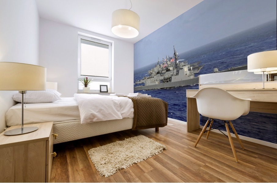 JDS Atago sails in formation with U.S. Navy and Japan Maritime Self Defense Force ships. Mural print