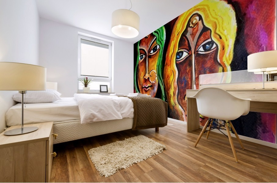 Abstract Figurative 2 2018 Mural print