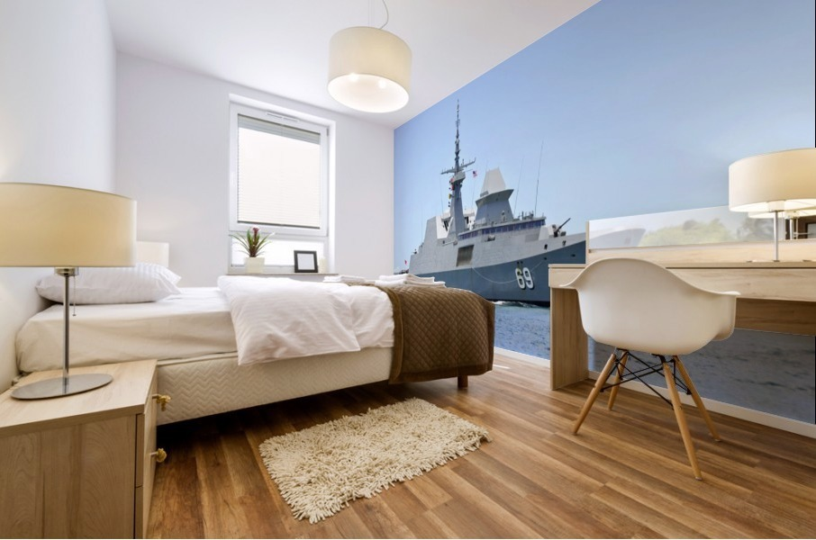 The Singapore frigate RSS Intrepid. Mural print