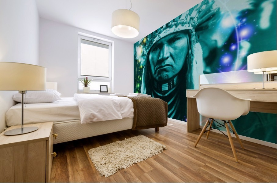 Magical Indian Chief Mural print