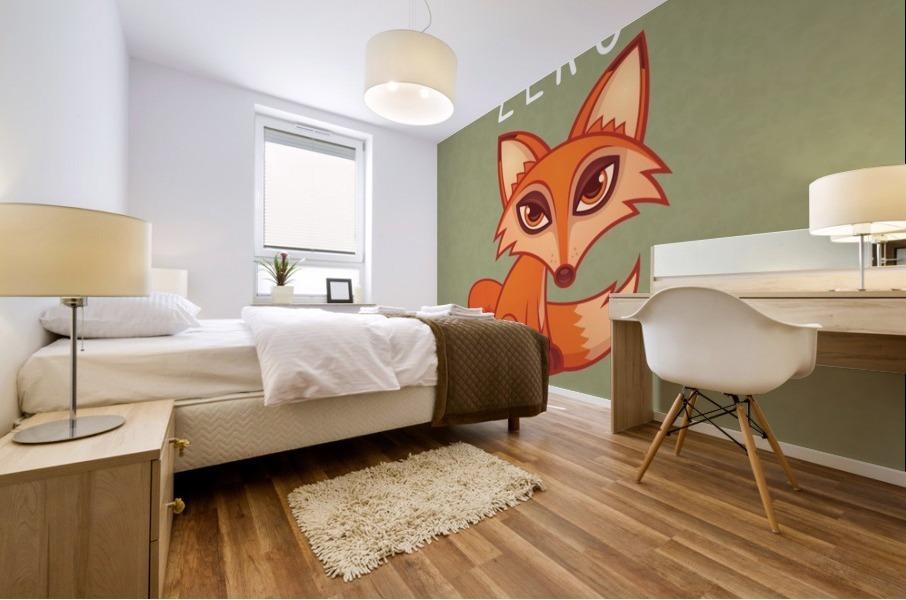 Zero Fox Given Mural print