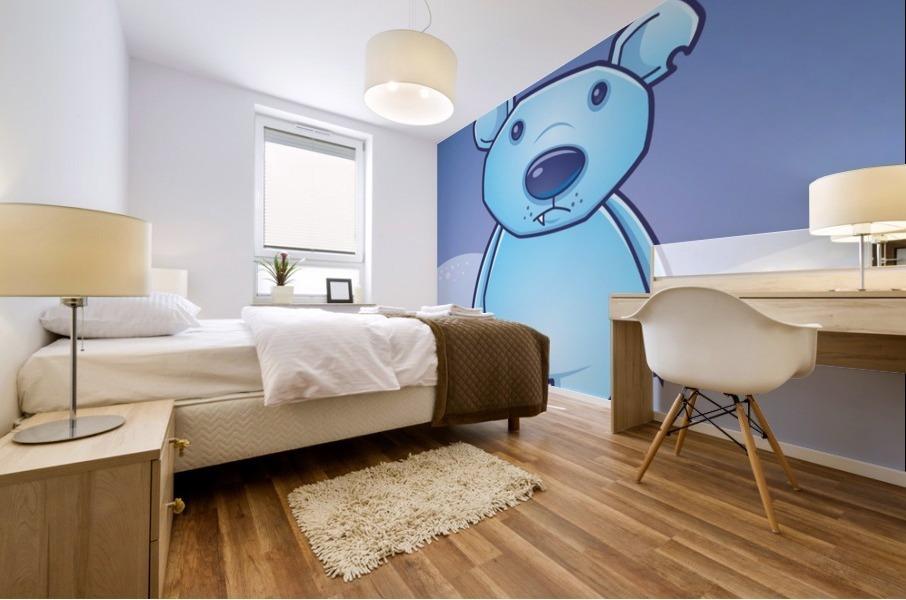Polar Bear Cub Mural print