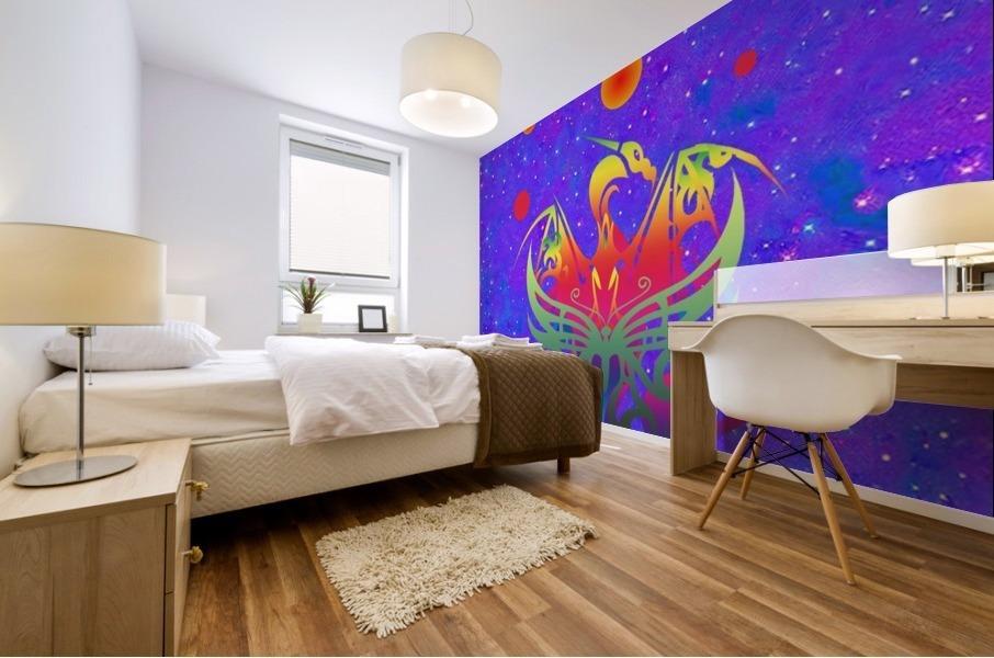 Star Dragon Mural print