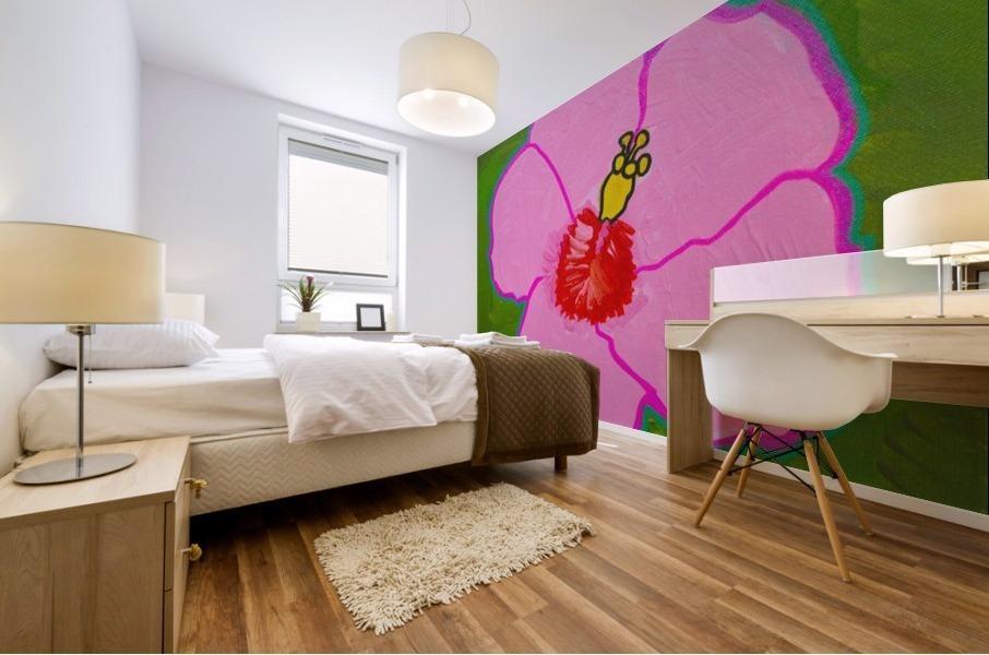 Hibiscus. Annie F Mural print