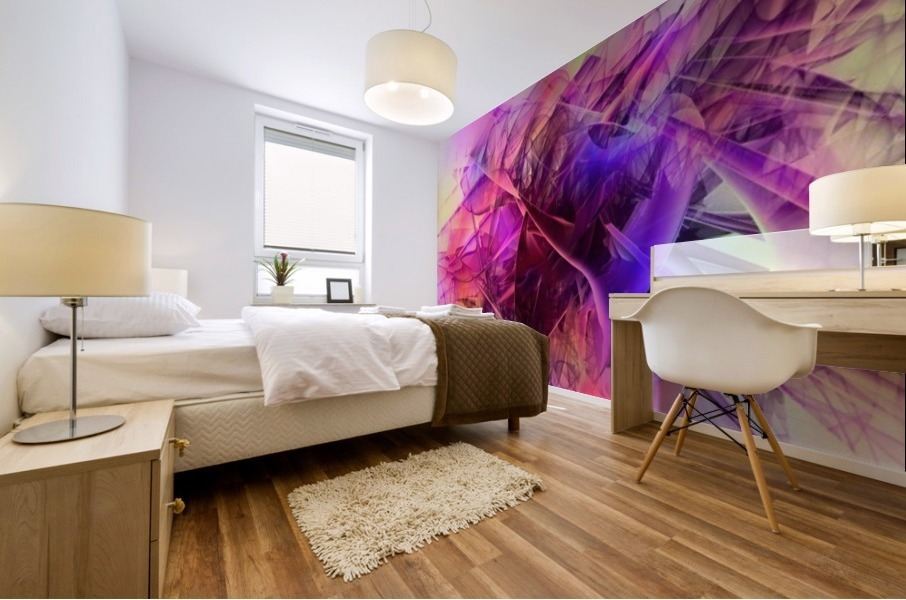 COLORED GLASS Mural print