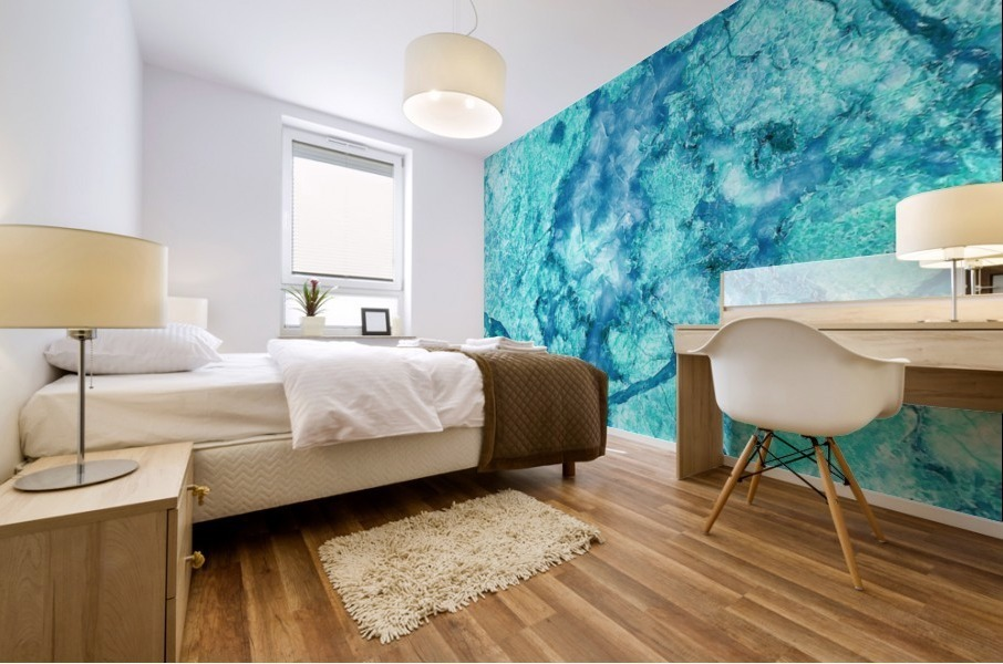 Turquoise Marble Mural print