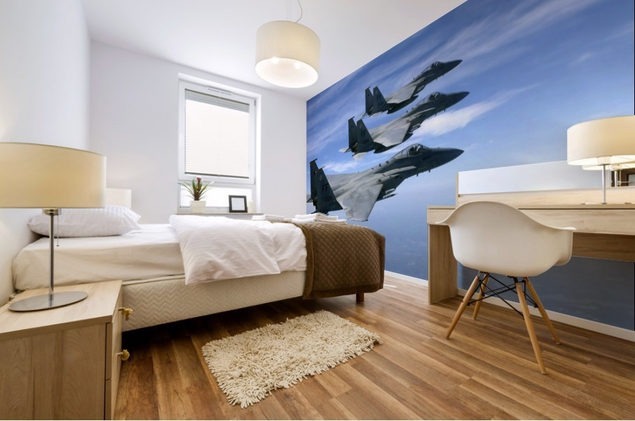 The F-15 Eagles final training mission over the the Atlantic Ocean. Mural print