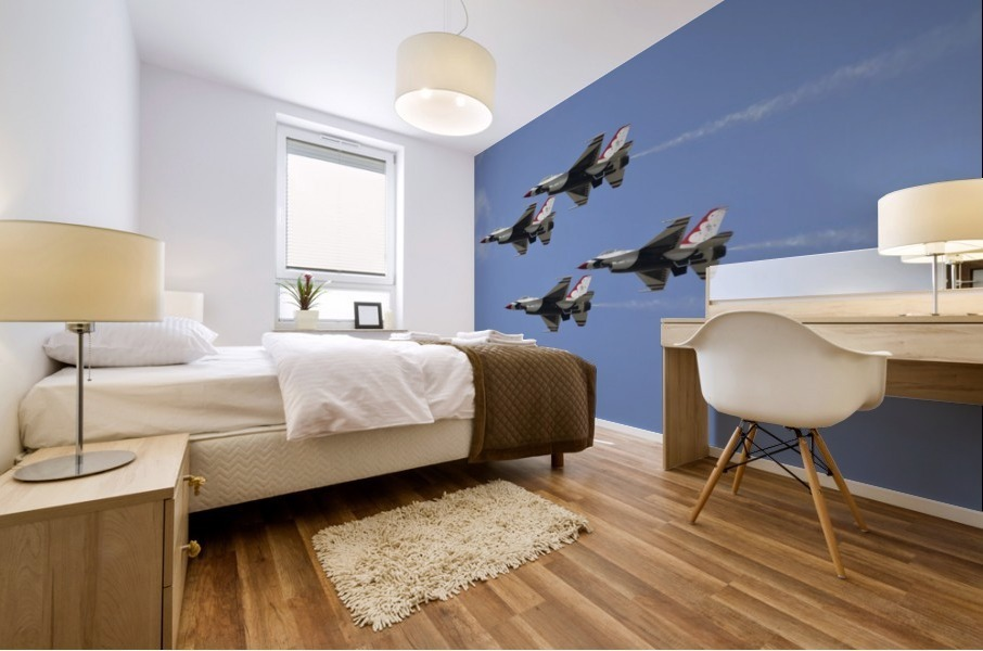 The U.S. Air Force Thunderbirds fly in formation. Mural print