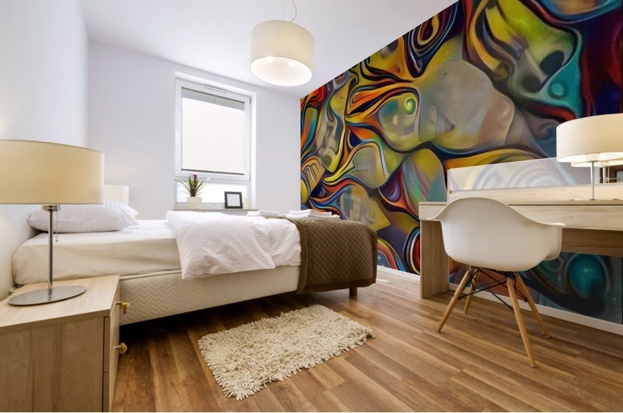 Seashell Colorful Pattern Mural print