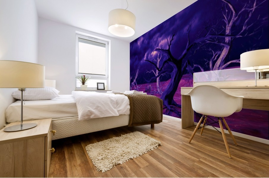PURPLE FOREST Mural print