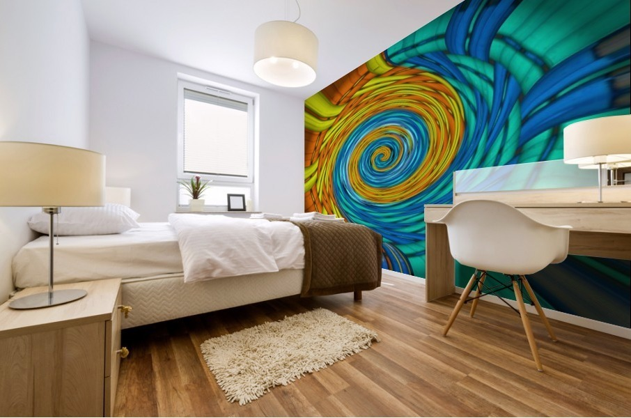 Magic Swirl Mural print