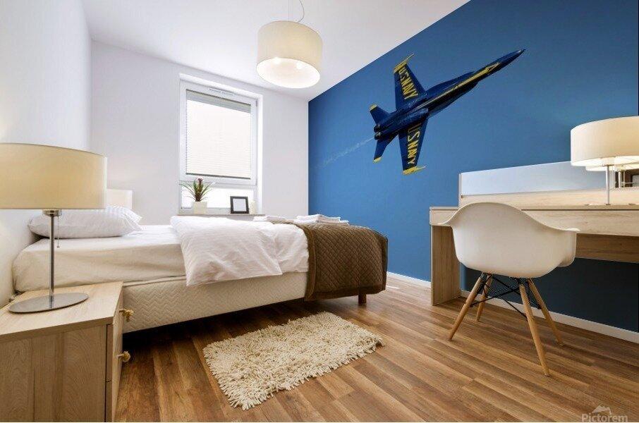Single USN Blue Angel Flying Mural print