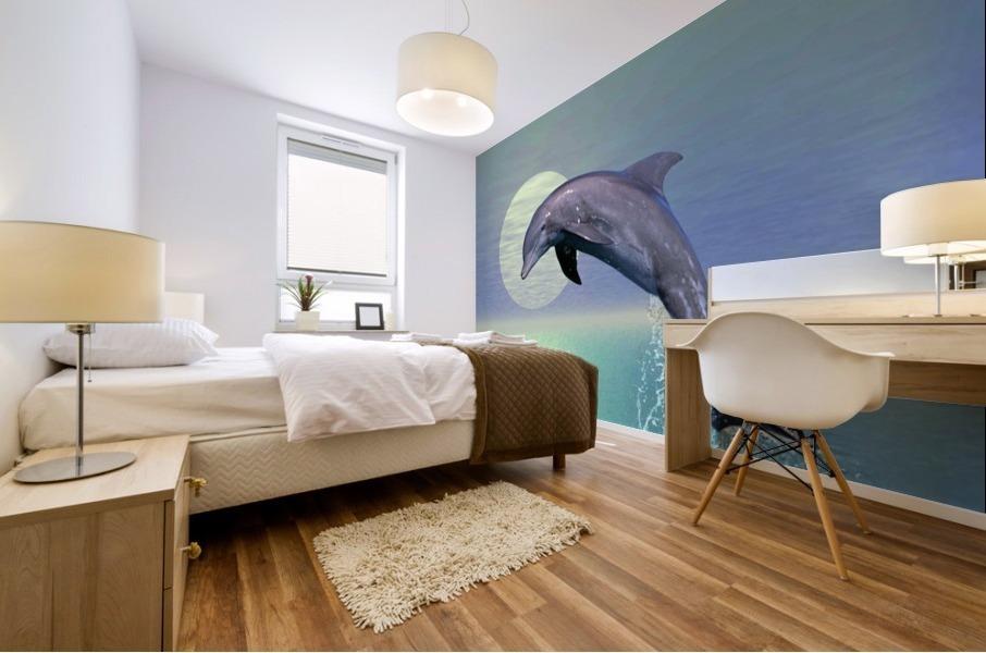 Dolphin Mural print