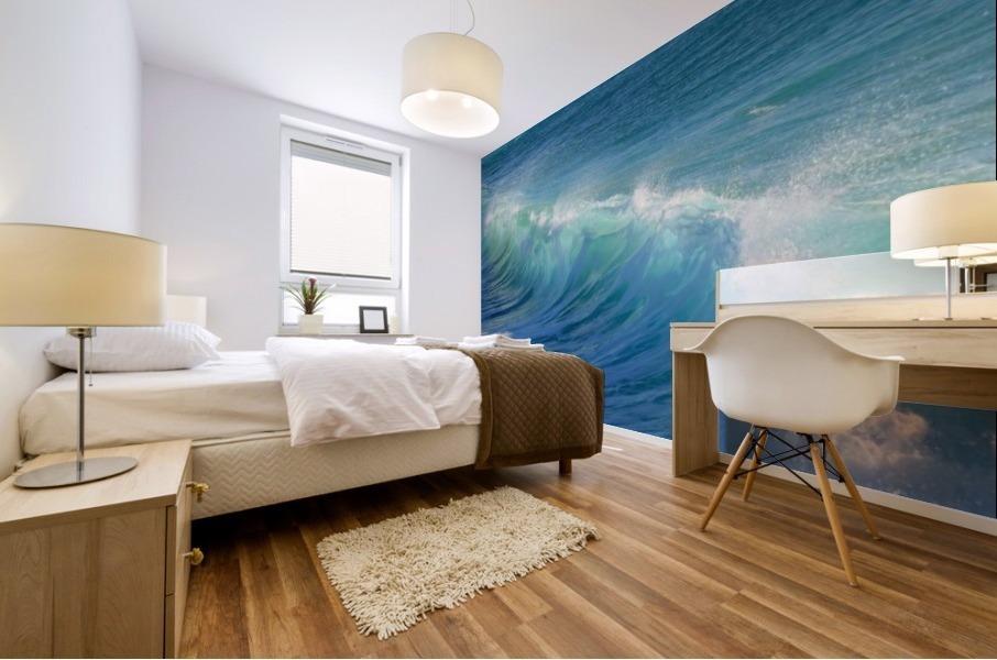 surf, water, wave, sea, nature, turquoise, ocean, splash, seashore, panoramic, spray, foam, Mural print