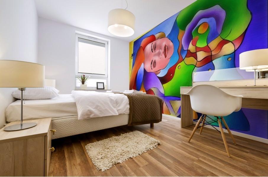 Fasettonia - colourful spirit Mural print