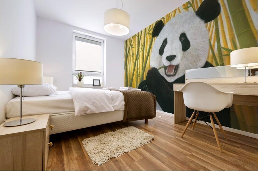P is for Panda Mural print