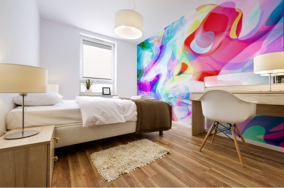 VIVID Abstraction I Mural print