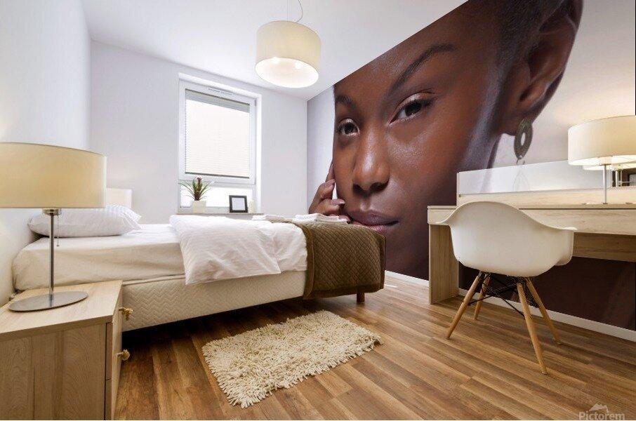 Black Woman Headshot Mural print