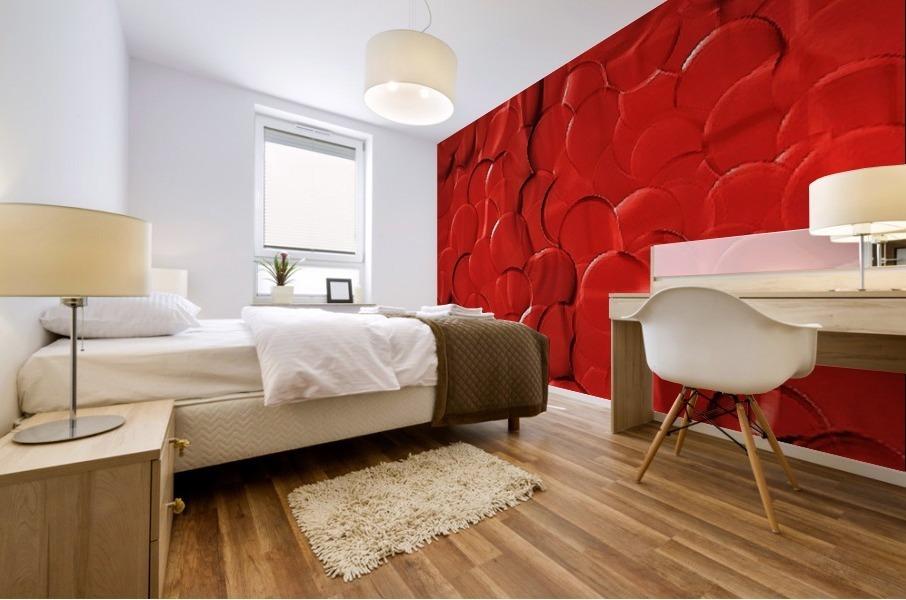 Red cells Mural print