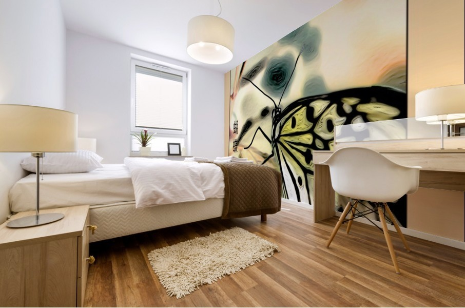 Papillon chinois  Impression murale