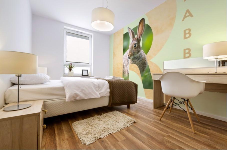 Rabbit Mural print