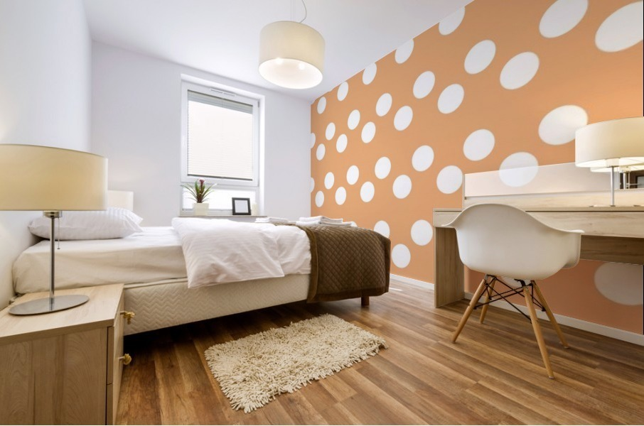 Sandy Brown Polka Dots Mural print