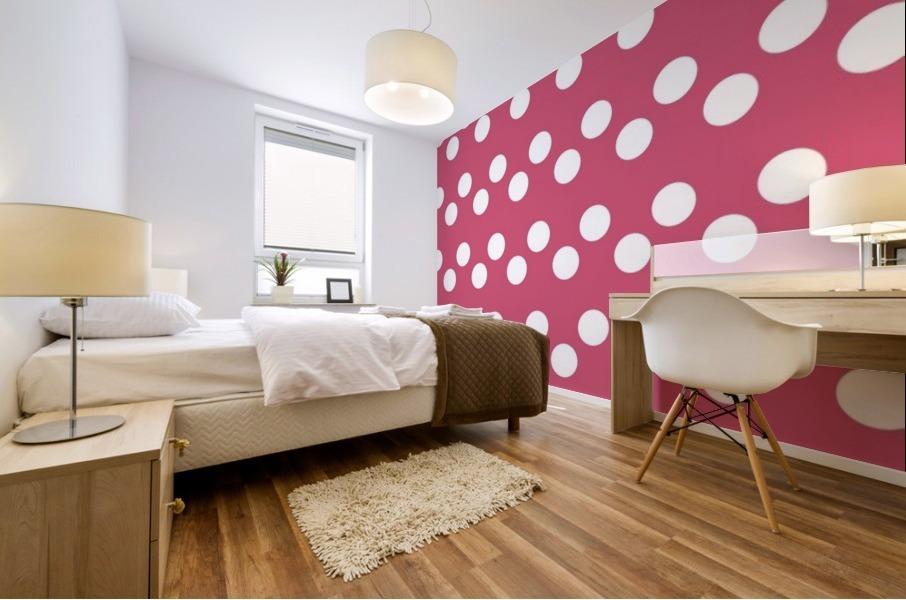 Sweet Pink Polka Dots Mural print